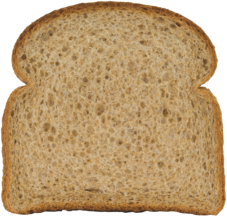 Stone Ground 100% Whole Wheat Bread Slice Image