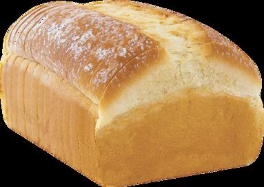 White Naked Bread Loaf