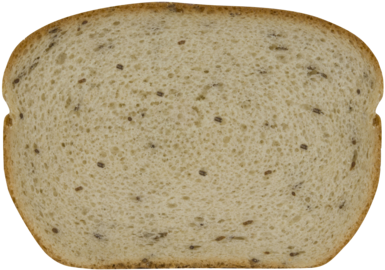 Seeded Jewish Rye Bread Slice Image