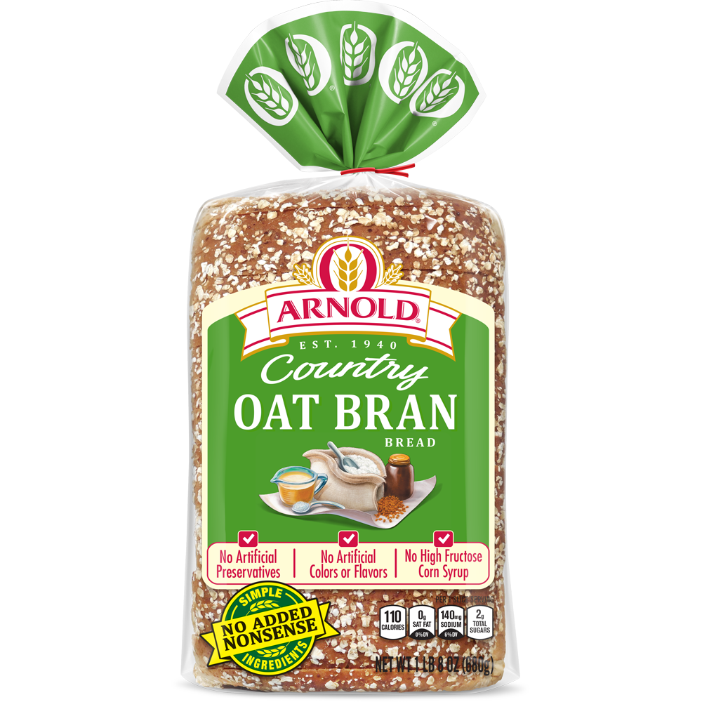 Arnold Oat Bran Bread Package