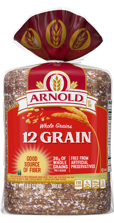 Arnold 12 Grain Bread 24oz Packaging