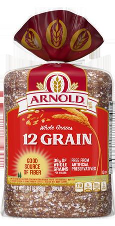Arnold 12 Grain Bread 24oz Packaging