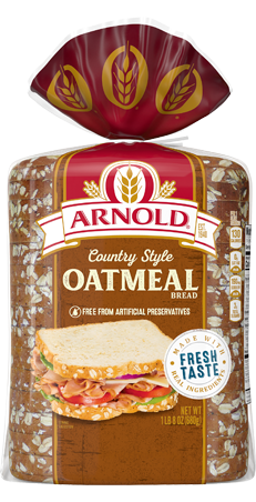 Arnold Country Style Oatmeal Bread 24oz Packaging