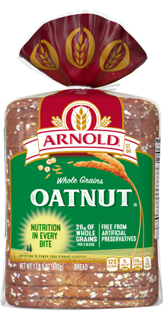 Arnold Oatnut Bread 24oz Packaging
