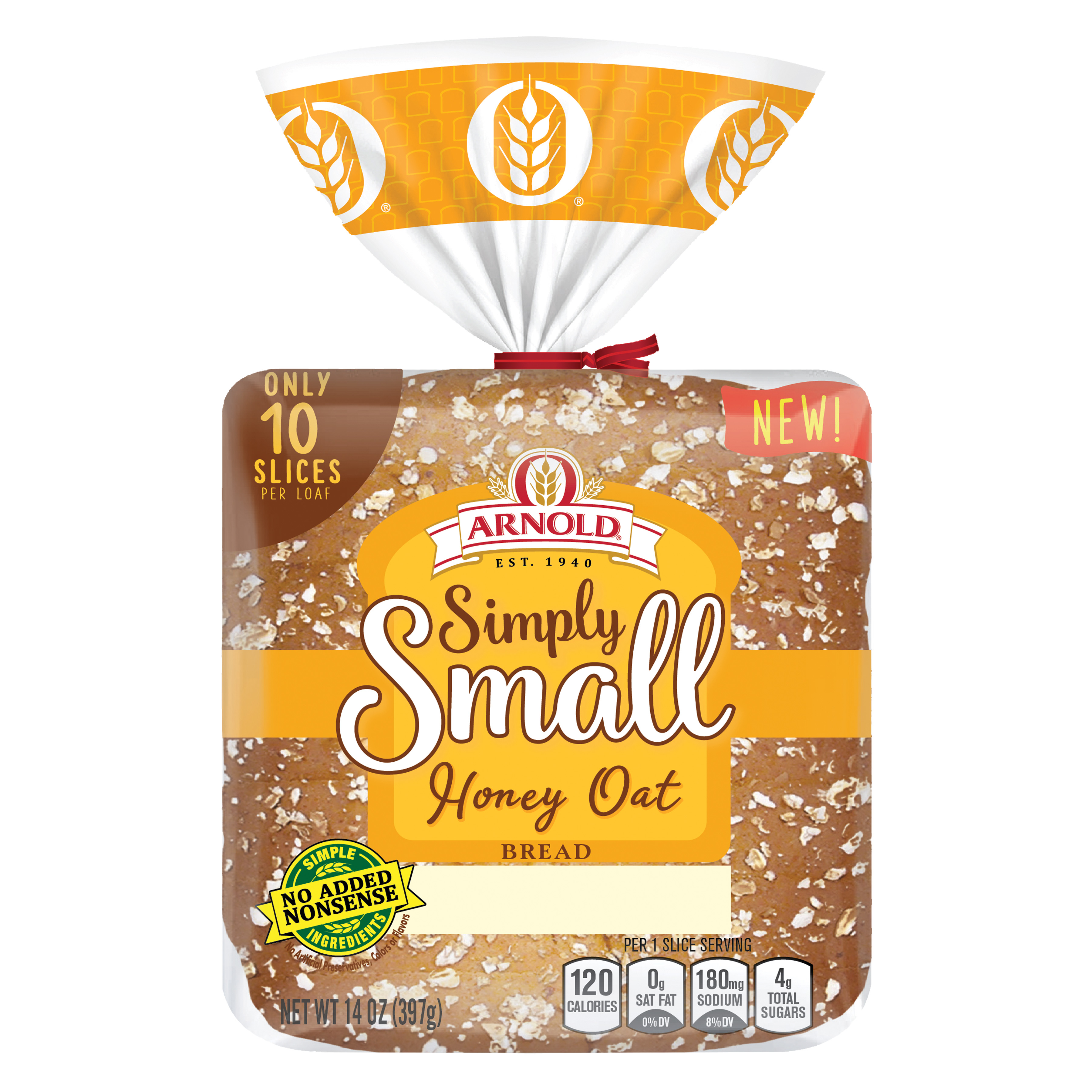 Arnold Simply Small Honey Wheat Bread Package