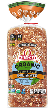 Arnold Thin-Sliced Sprouted Wheat 18oz Bread