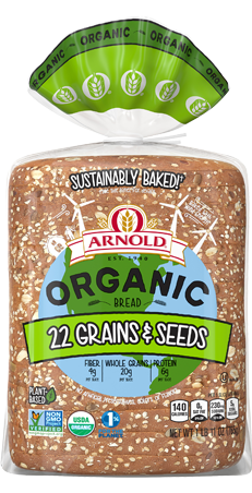 Arnold Organic 22 Grains & Seeds Bread Package