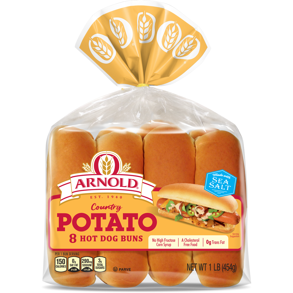 Arnold Potato Hot Dog Buns Package Image