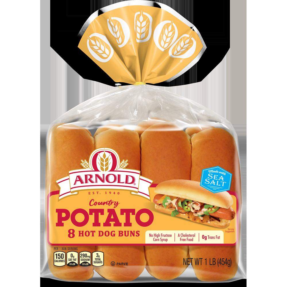 Arnold Potato Hot Dog Buns Package