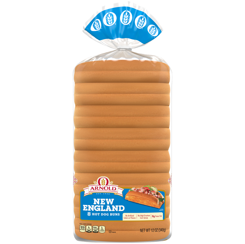 Arnold New England Hot Dog Buns Package