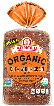 Arnold 100% Whole Grain Bread Package Image