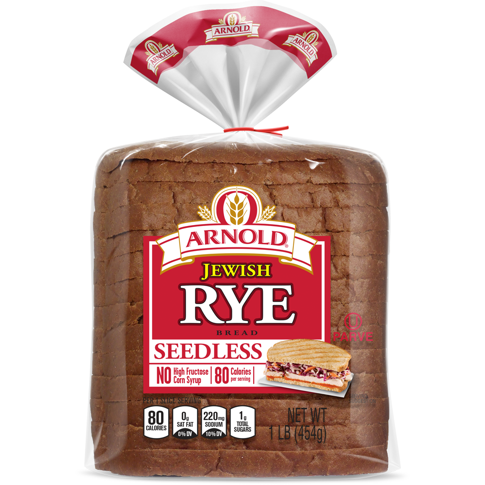 Arnold Seedless Jewish Rye Bread Package Image