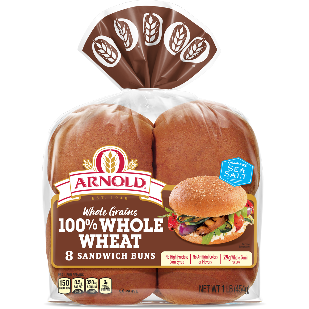 Arnold 100% Whole Wheat Sandwich Buns Package Image
