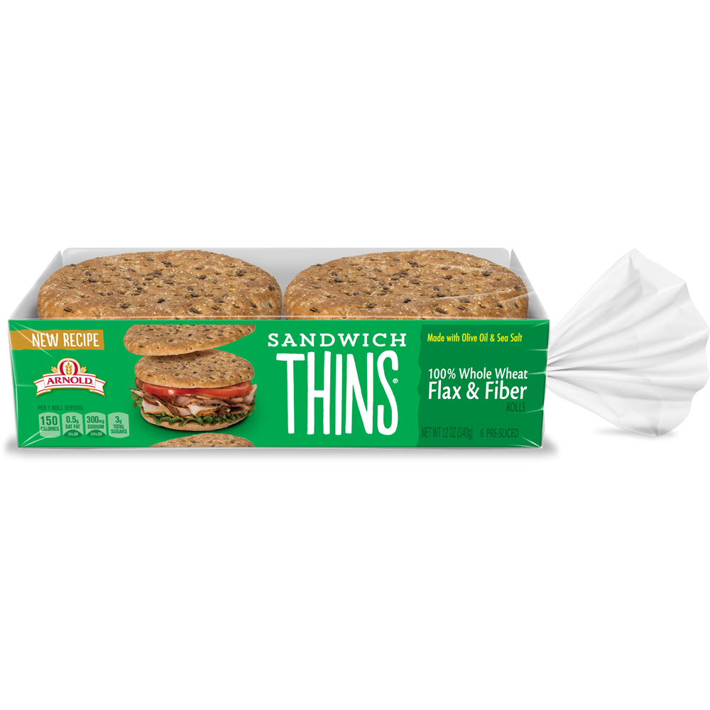 Arnold Sandwich Thins Flax & Fiber Package Image