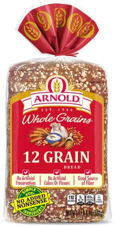 Arnold 12 Grain Bread Package
