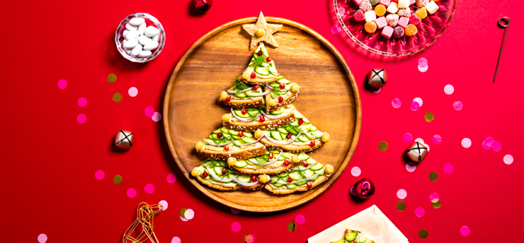 Holiday Toast Tree Recipe Image