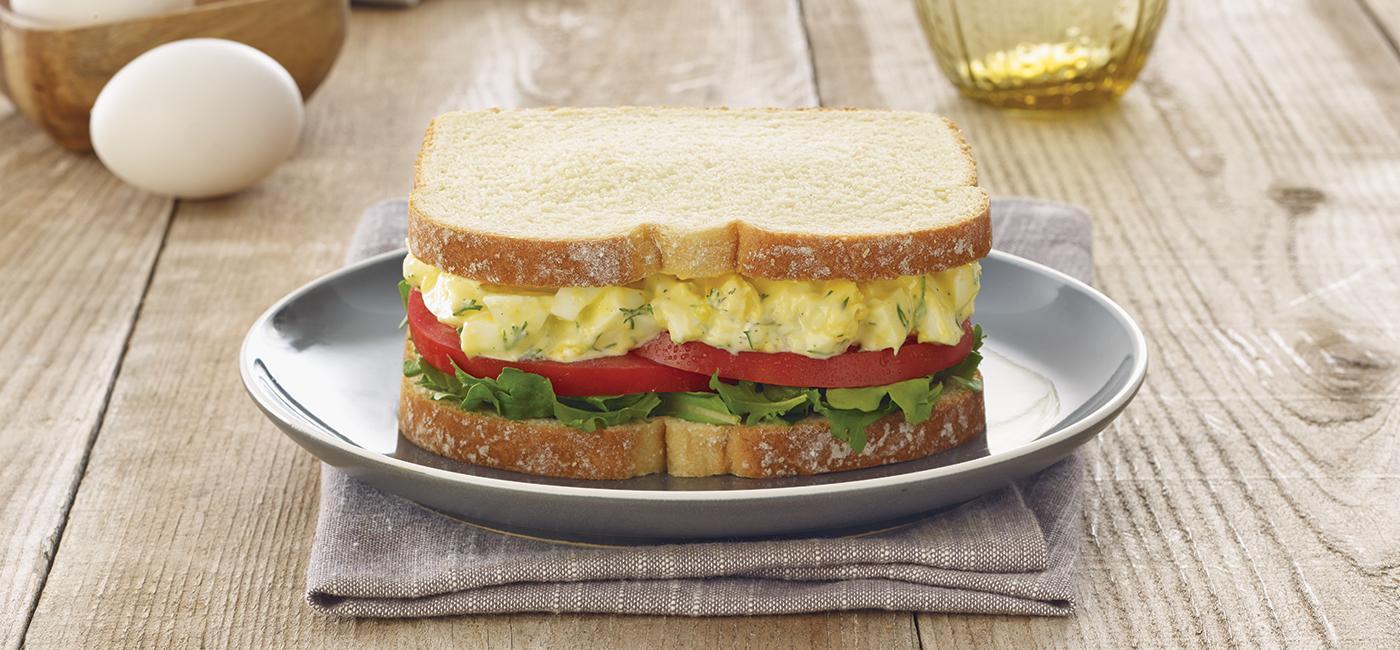 Greek Yogurt Egg Salad Sandwich Recipe Image