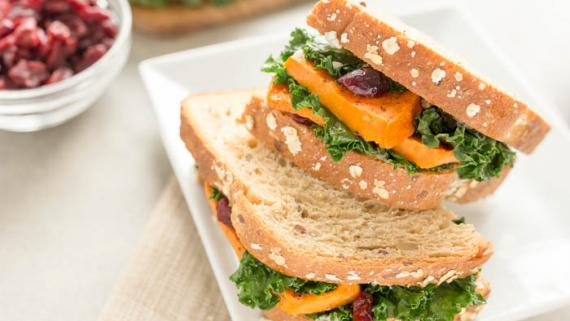 Savory Sweet Potato Sandwich  - Recipe Image