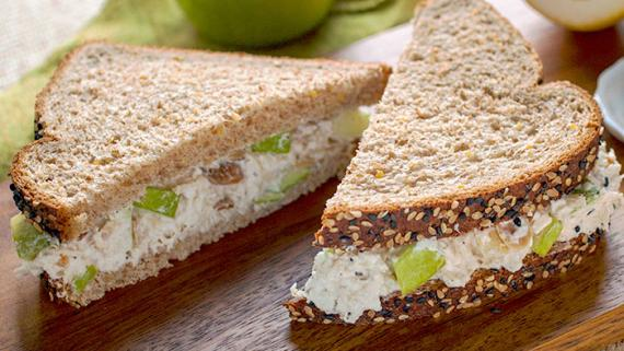 Lemon-Apple Chicken Salad Sandwich Recipe Image