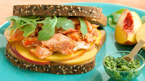 Peach-Kissed Salmon Sammie - Recipe Image