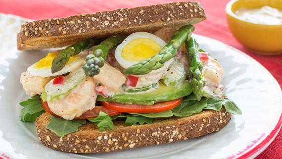 Golden Gate Shrimp Louie Sandwich Recipe Image