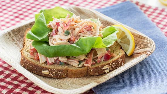 Open Faced Kickin Crabsalad - Recipe Image