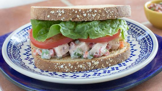 Tex-Mex Fajita Chicken Salad Sandwich Recipe Image