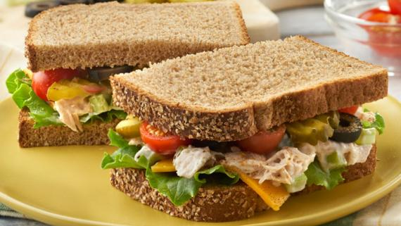 Easy Old Bay Tuna & Olive Sandwich Recipe Image