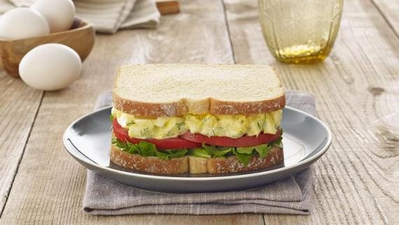 Greek Yogurt Egg Salad Sandwich Recipe Image
