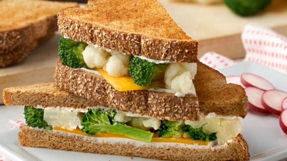 Melty Colby & Steamed Veggie Sandwich recipe image