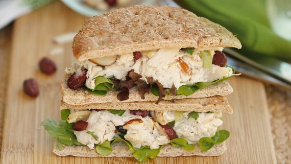 Cranberry Almond Chicken Salad Sammie Recipe Image