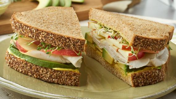 Spiced & Sweet Curry Mayo and Apple Sandwich Recipe Image