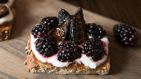 Sultry Fig and Berry Toast Recipe Image