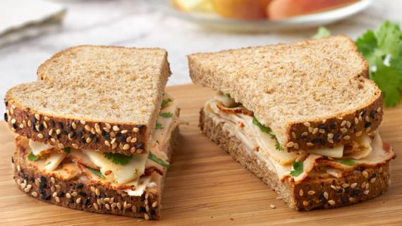 Zesty Pepper Jack & Buffalo Chicken Sandwich Recipe Image