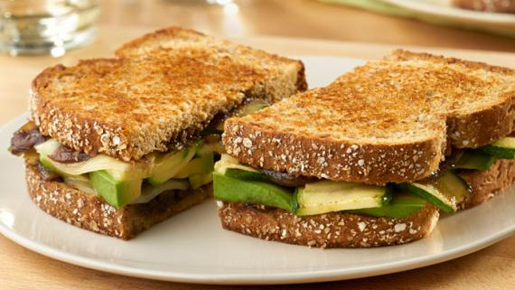 Zucchini, Avocado and Onion Veggie Melt Recipe Image